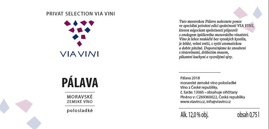 Vlastní řada gastro vín PRIVAT SELECTION VIA VINI